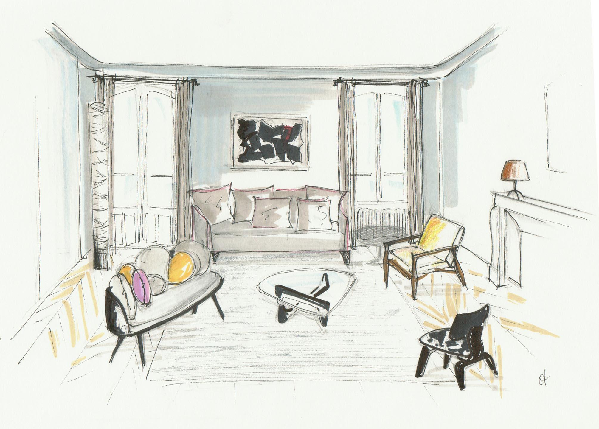 dessin Brossier salon