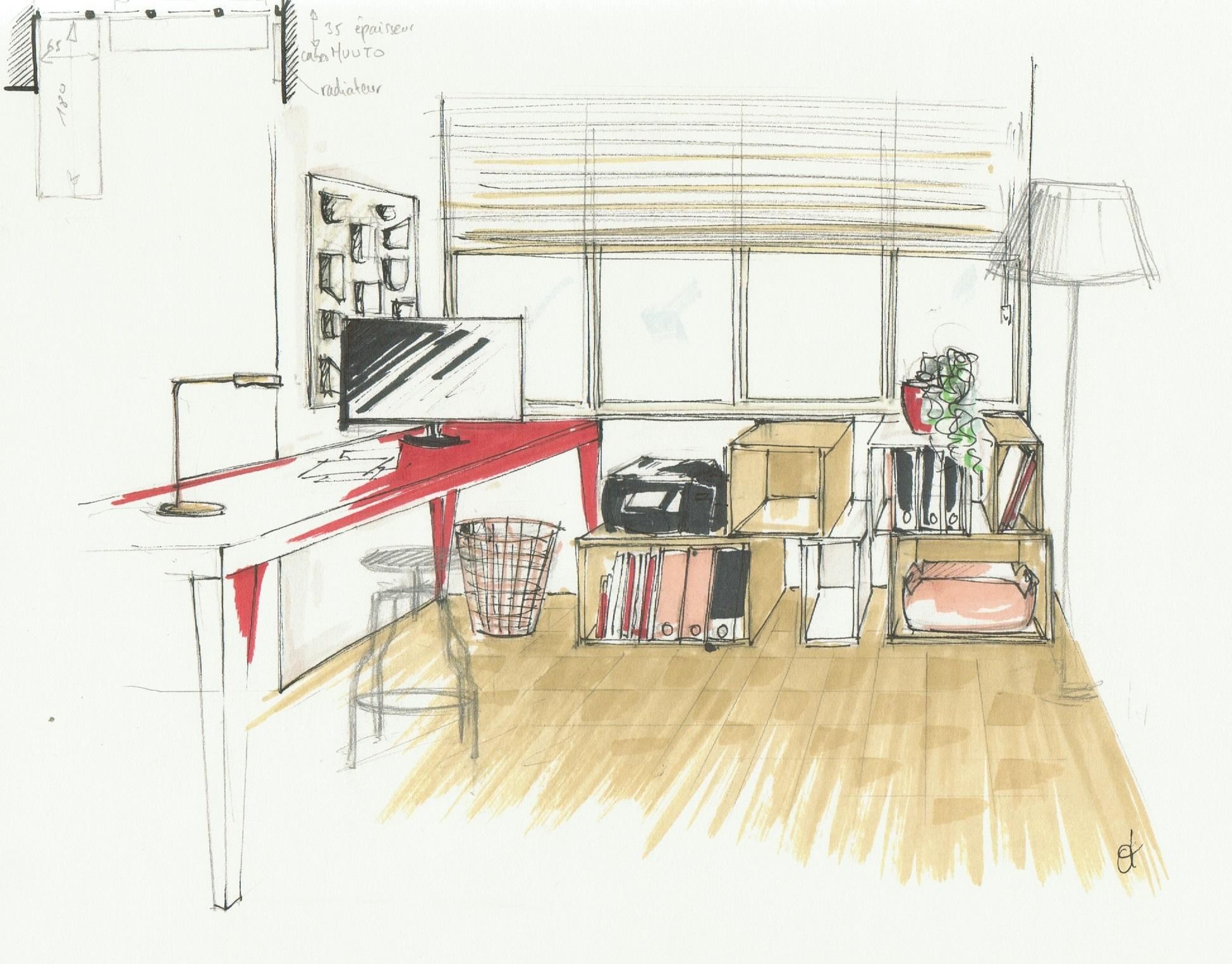 dessin Logan bureau