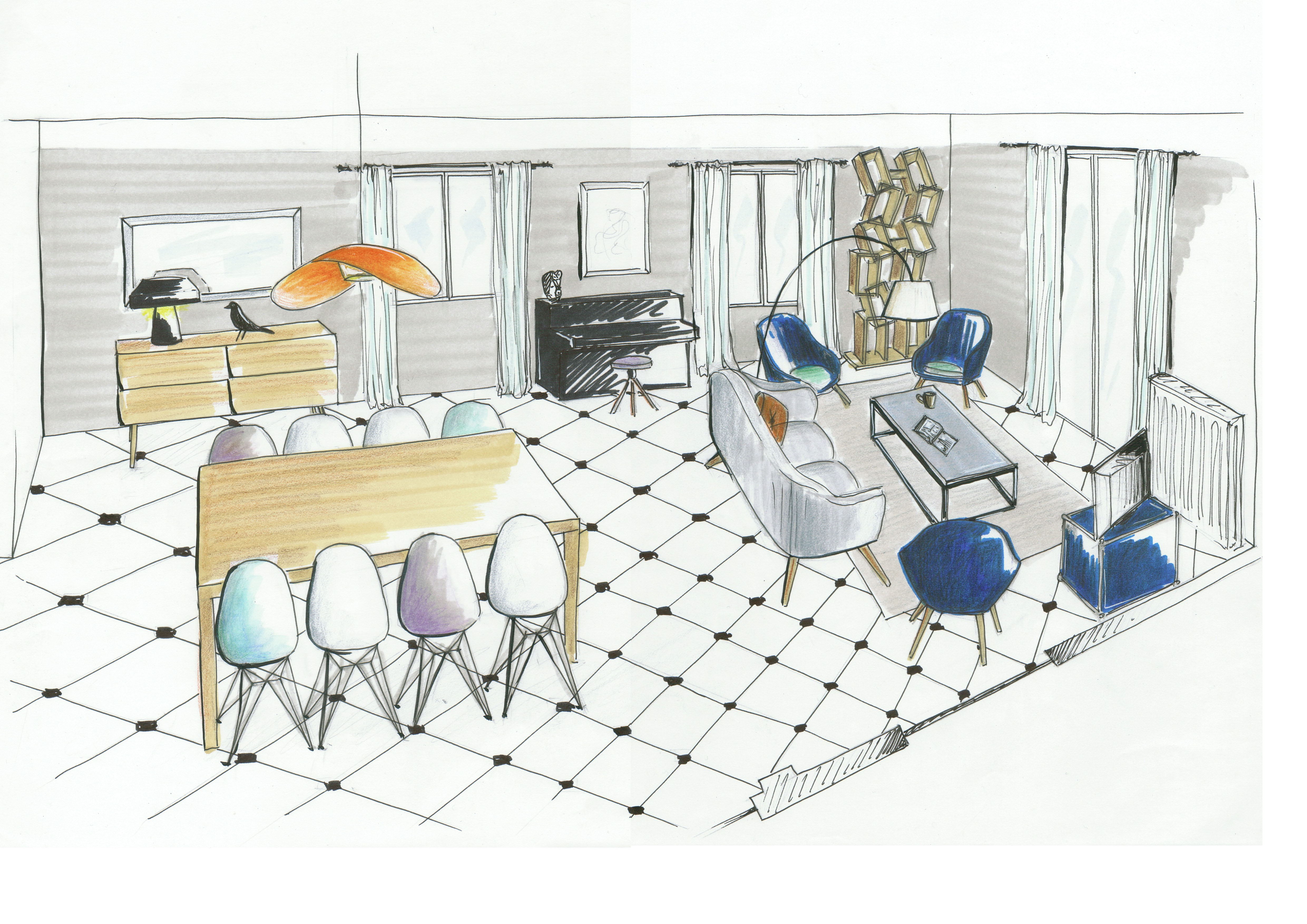 salle à manger-petit salon